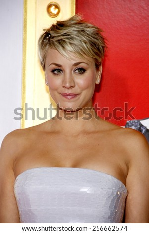 Kaley Cuoco-Sweeting at the Los Angeles premiere of 'The Wedding Ringer' held at the TCL Chinese Theatre in Los Angeles on Tuesday January 6, 2015.  - stock photo