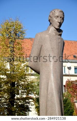 KALININGRAD, RUSSIA - OCTOBER 18, 2014:  Monument Lyudvikasu Raza (Ludwig Raza) (1776-1840) - stock photo