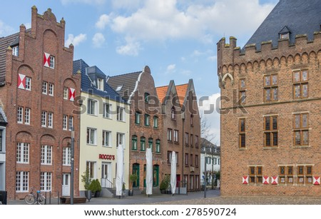 KALKAR, GERMANY - MARCH 2: Old houses at the central square on March 2, 2014 in Kalkar.