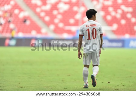 Kallang,Singapore - JUNE 13:NGUYEN Cong Phuong of Vietnam in action during the 28th SEA Games Singapore 2015 match between Vietnam and Myanmar at Singapore National Stadium on JUNE13 2015