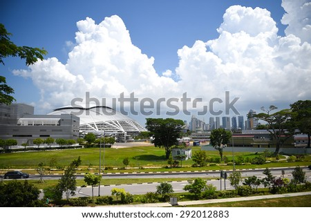KALLANG,SINGAPORE-MAY30:Some view around the SINGAPORE Sport Hub in competition the 28th SEA Games Singapore 2015 on May30 2015 at Singapore.