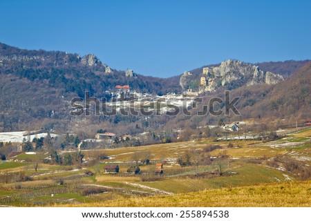 Kalnik mountain old fort ruins, Prigorje region of Croatia - stock photo