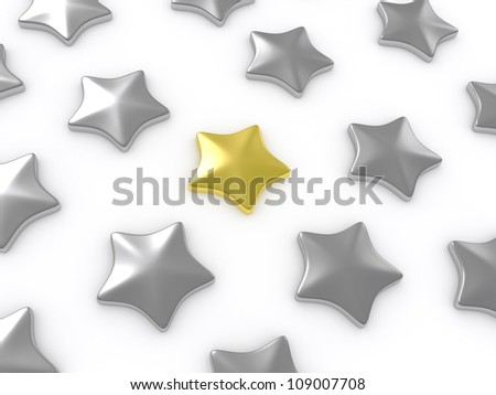 Kalsicheksky five-pointed star isolated on a white background