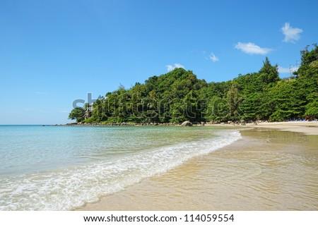 Kamala bay in Thailand island Phuket in sunny calm day - stock photo