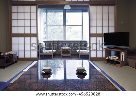 KAMIKOCHI,JAPAN- MAY 22,2016: traditional Japanese room in traditional style