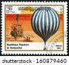 KAMPUCHEA - CIRCA 1983: mail stamp printed in Kampuchea (Cambodia) featuring the Montgolfier hot air balloon, circa 1983 - stock photo