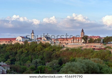 Kamyanets-Podilsky is a city located on the Smotrych River in Ukraine. - stock photo