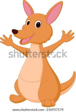 Kangaroo cartoon  - stock photo