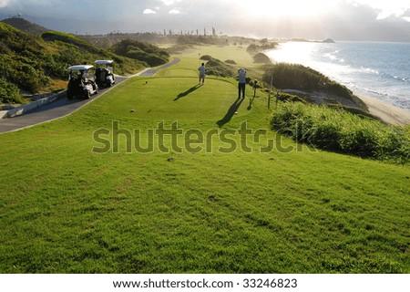 Kaniohe Golf course - stock photo