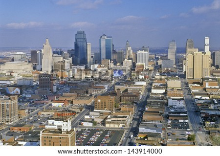 Kansas City skyline, MO - stock photo
