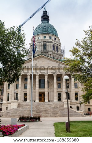 Kansas State Capitol Building, Topeka - stock photo