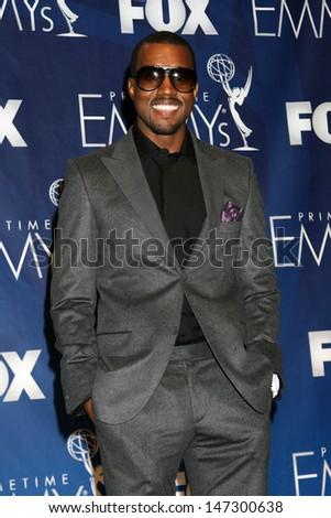 Kanye West at the Emmy Awards 2007 - Press Room Shrine Auditorium Los Angeles,  CA September 16, 2007 - stock photo
