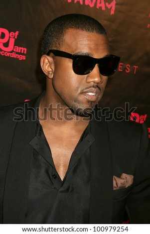 "Kanye West at the Los Angeles Premiere of Kanye West's film debut ""Runaway,"" Harmony Gold, West Hollywood, CA. 10-18-10 - stock photo"