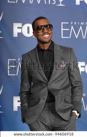 Kanye West at the 59th Primetime Emmy Awards at the Shrine Auditorium. September 17, 2007 Los Angeles, CA Picture: Paul Smith / Featureflash - stock photo