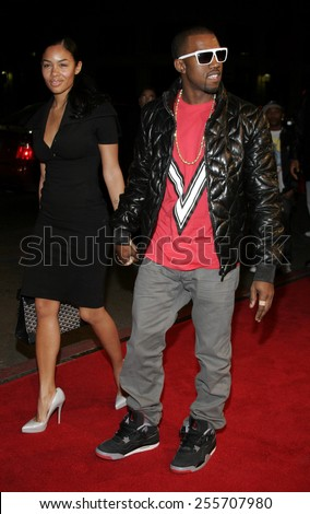 """Kanye West attends the World Premiere of """"Smokin' Aces"""" held at the Grauman's Chinese Theater in Hollywood, California on January 18, 2007.  - stock photo"""
