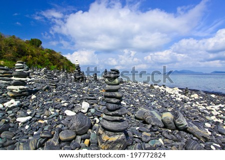 Kao Hin Ngam,the amazing stone for best wish on Andaman sea of Thailand
