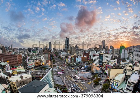 KAOHSIUNG, TAIWAN, 11 MAY 2014: Southern located in Taiwan, is a port city, has developed rapidly in recent years, many foreign visitors have come to play and 11 May 2014 in Kaohsiung