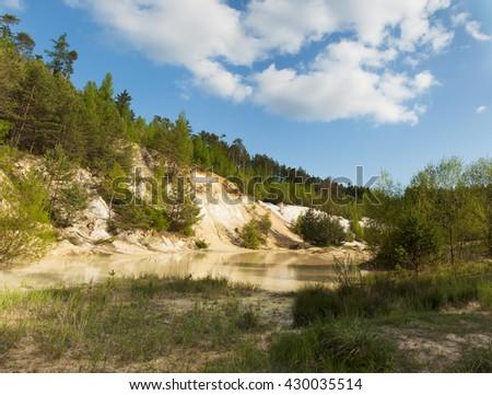 Kaolin quarry in Czech Republic - stock photo