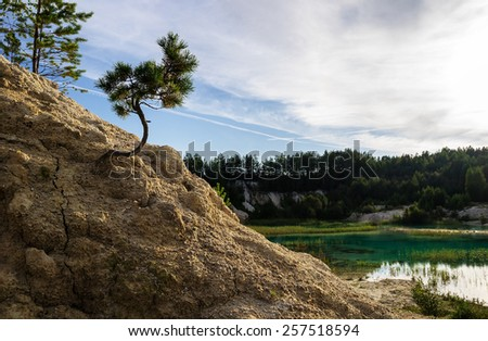 Kaolin quarry locally named Bali, Kyshtym, South Ural, Russia