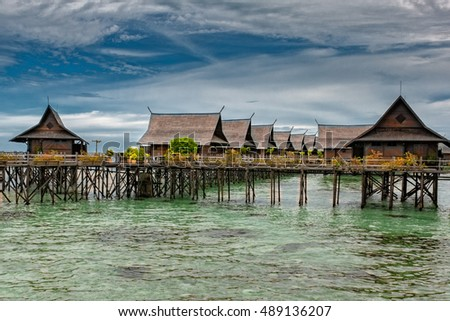 Kapalai Resort view Turquoise Tropical Paradise Crystal Water Borneo Indonesia
