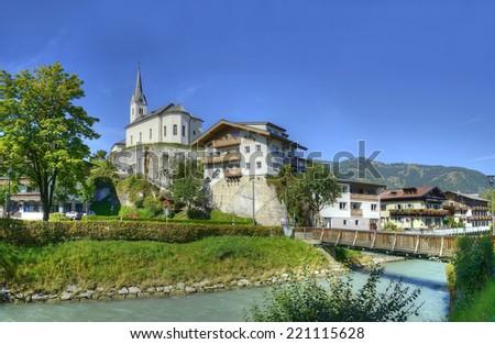 Kaprun - a famous tourist resort in the Austrian Alps near the town of Zell am See, Austria - stock photo