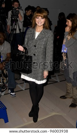 Kara Tointon at Japser Conrad, on day two of London Fashion Week, 18/02/2012 Picture by: Simon Burchell / Featureflash