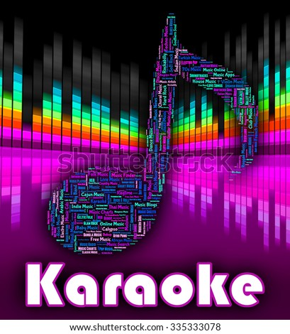 Karaoke Music Representing Sound Tracks And Audio - stock photo