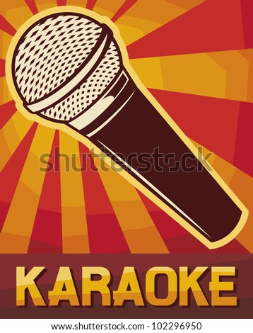 karaoke poster (karaoke design) - stock photo