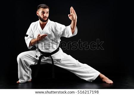 black men in karate