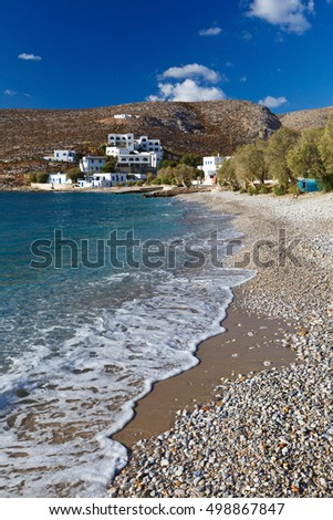 Karavostasis village on Folegandros islands early in the morning.