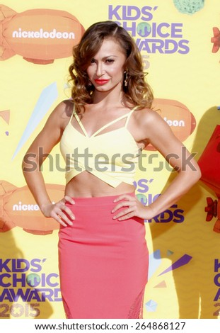 Karina Smirnoff at the Nickelodeon's 28th Annual Kids' Choice Awards held at the Forum in Inglewood, USA on March 28, 2015.