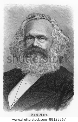 Karl Heinrich Marx -  Picture from Meyers Lexicon books written in German language. Collection of 21 volumes published  between 1905 and 1909. - stock photo