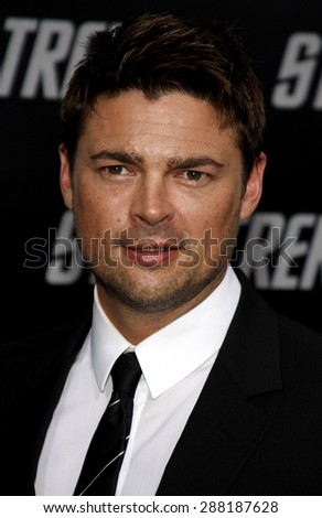 Karl Urban at the Los Angeles premiere of 'Star Trek' held at the Grauman's Chinese Theater in Hollywood on April 30, 2009.