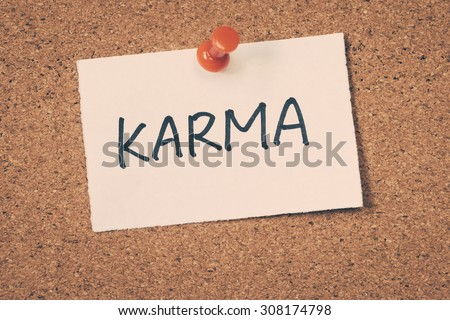 karma - stock photo