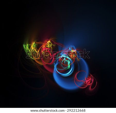 Karma abstract illustration - stock photo