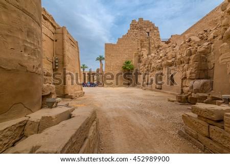 Karnak Temple Complex in Luxor, Egypt - stock photo