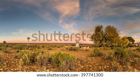 karoo farm - stock photo