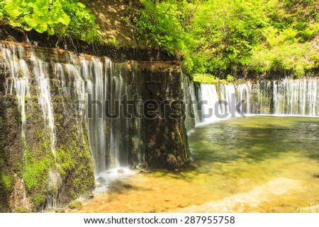Karuizawa Shiraito Waterfall, Nagano, Japan - stock photo