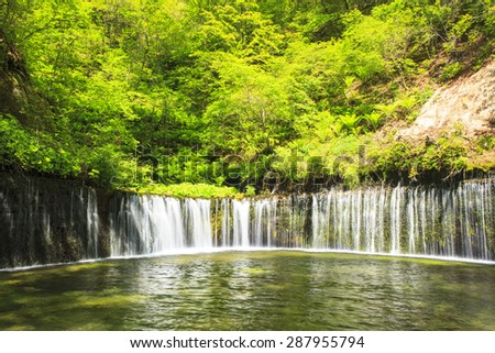 Karuizawa Shiraito Waterfall, Nagano, Japan - stock photo