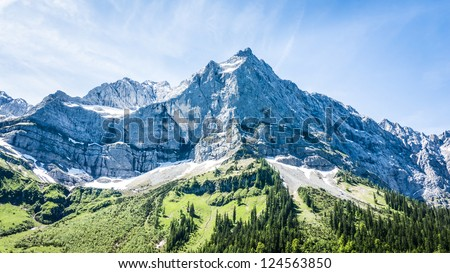 karwendel mountains in summer - austria - stock photo