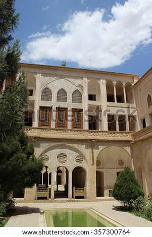 Kashan, Iran, May, 2015, Ameriha Mansion.  May 7, 2015. Kashan, Iran.