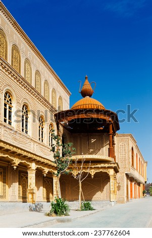 KASHGAR, CHINA - JUL 11: The ancient city of Kashgar on Jul 11, 2014 in Kashgar, China. It is an oasis Chinese city on the silk trading route in Xinjiang province, a home to Uyghur Autonomous Tribe - stock photo
