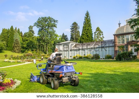 Kassel, Bergpark, Wilhelmshoehe, Greenhouse - stock photo