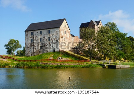 Kastelholm Castle (built in 14th century), Aland islands - stock photo