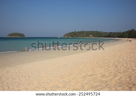Kata beach at Phuket island Thailand - stock photo