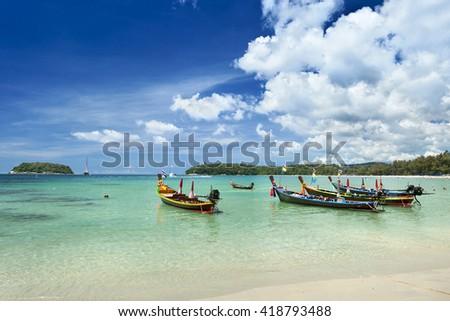 Kata beach ,Phuket,Thailand - stock photo