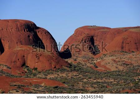 Kata Tjuta also known as the Olgaâ??s in Central Australia - stock photo