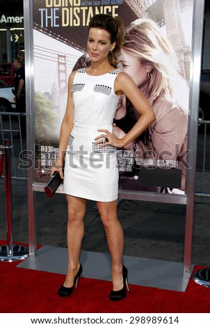 Kate Beckinsale at the Los Angeles premiere of 'Going The Distance' held at the Grauman's Chinese Theater in Hollywood on August 23, 2010.  - stock photo