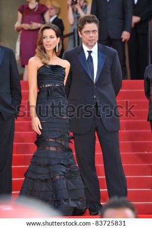 Kate Beckinsale & Benicio Del Toro at the closing Awards Gala at the 63rd Festival de Cannes. May 23, 2010  Cannes, France Picture: Paul Smith / Featureflash