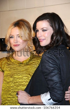 Kate Hudson and Liv Tyler  at the Burberry Beverly Hills Store Re-Opening. Burberry Beverly Hills Store, Beverly Hills, CA. 10-20-08 - stock photo
